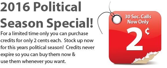 buy robocalls special 2016 election